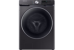 Samsung 4.5 Cu. Ft. Front-Load Smart Wi-Fi Washer with Steam - Black stainless steel - Click for more details