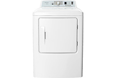 Insignia 6.7 Cu. Ft. 10-Cycle Gas Dryer - White - Click for more details