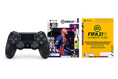 PS4 Dualshock 4 Wireless Controller - Black W/ FIFA 21 - Click for more details