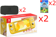 Nintendo Switch Lite BOGO Bundle in Yellow - Click for more details