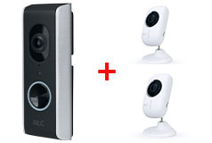 ALC 1080p WiFi Video Doorbell & 2 x 1080p Full HD WiFi Indoor Cameras - Click for more details