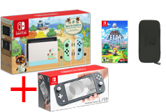 Nintendo Bundle of 4:Nintendo Switch Limited Edition, Gray Lite + Game, Carrying Case - Click for more details