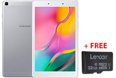 "Samsung Galaxy Tab A 8"" 32GB Silver (2GB/32GB/Android)+FREE 32GB MicroSD Card - Click for more details"
