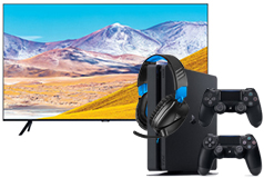 "Samsung 65"" Crystal UHD 4K Smart TV & PlayStation 4 Slim 1TB + Recon 70 Headset - Click for more details"