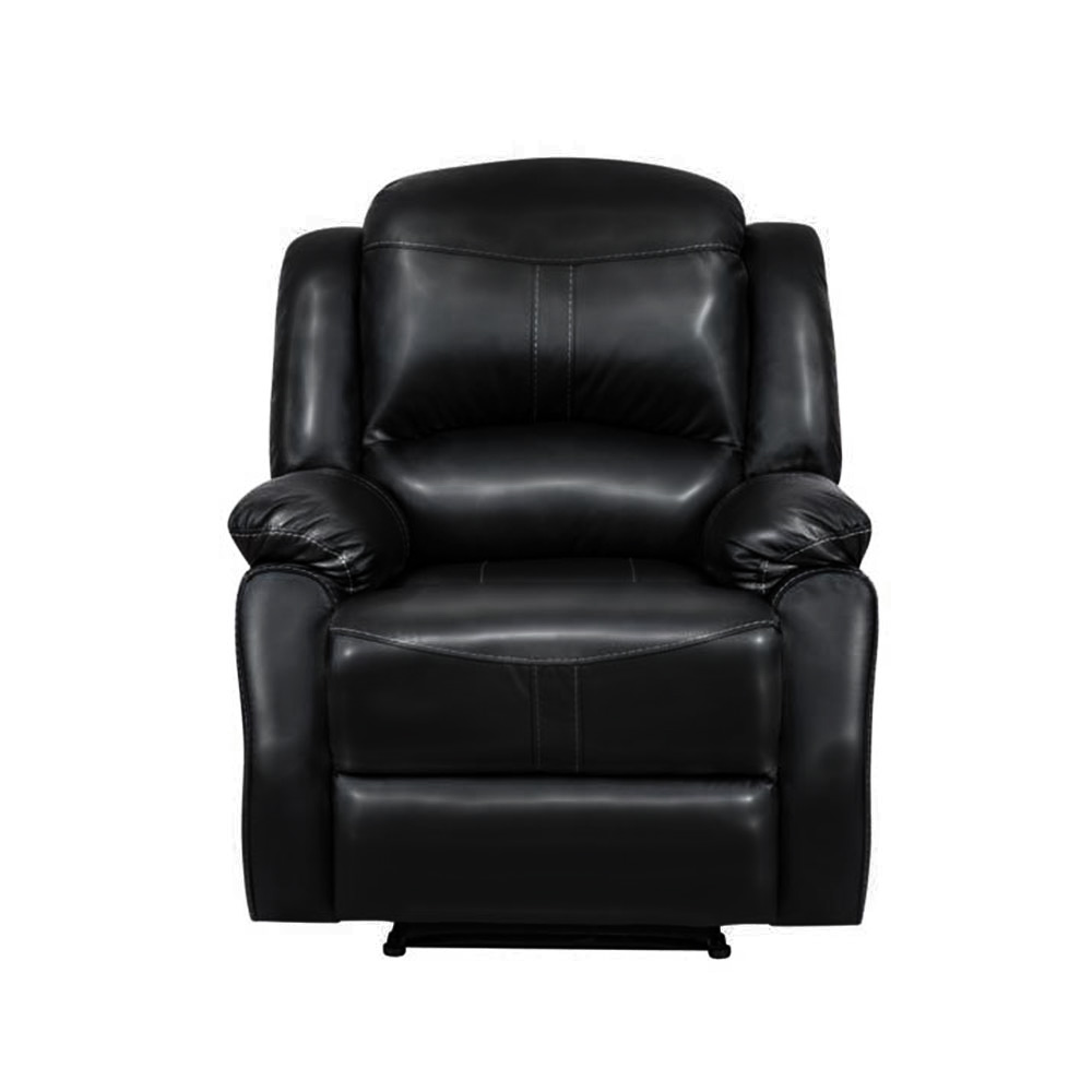Lorraine Recliner Chair in Black Bonded Leather