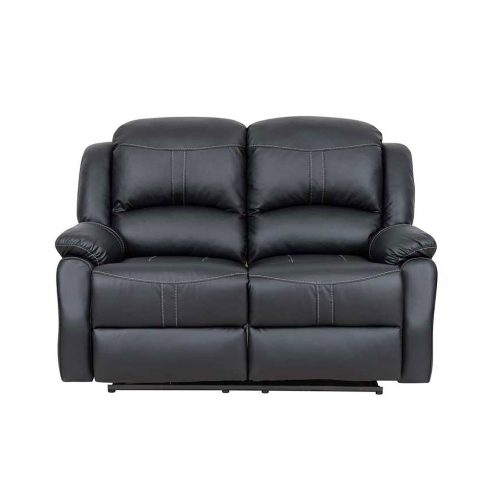 hill power loveseat glider reclining with center console double black mn