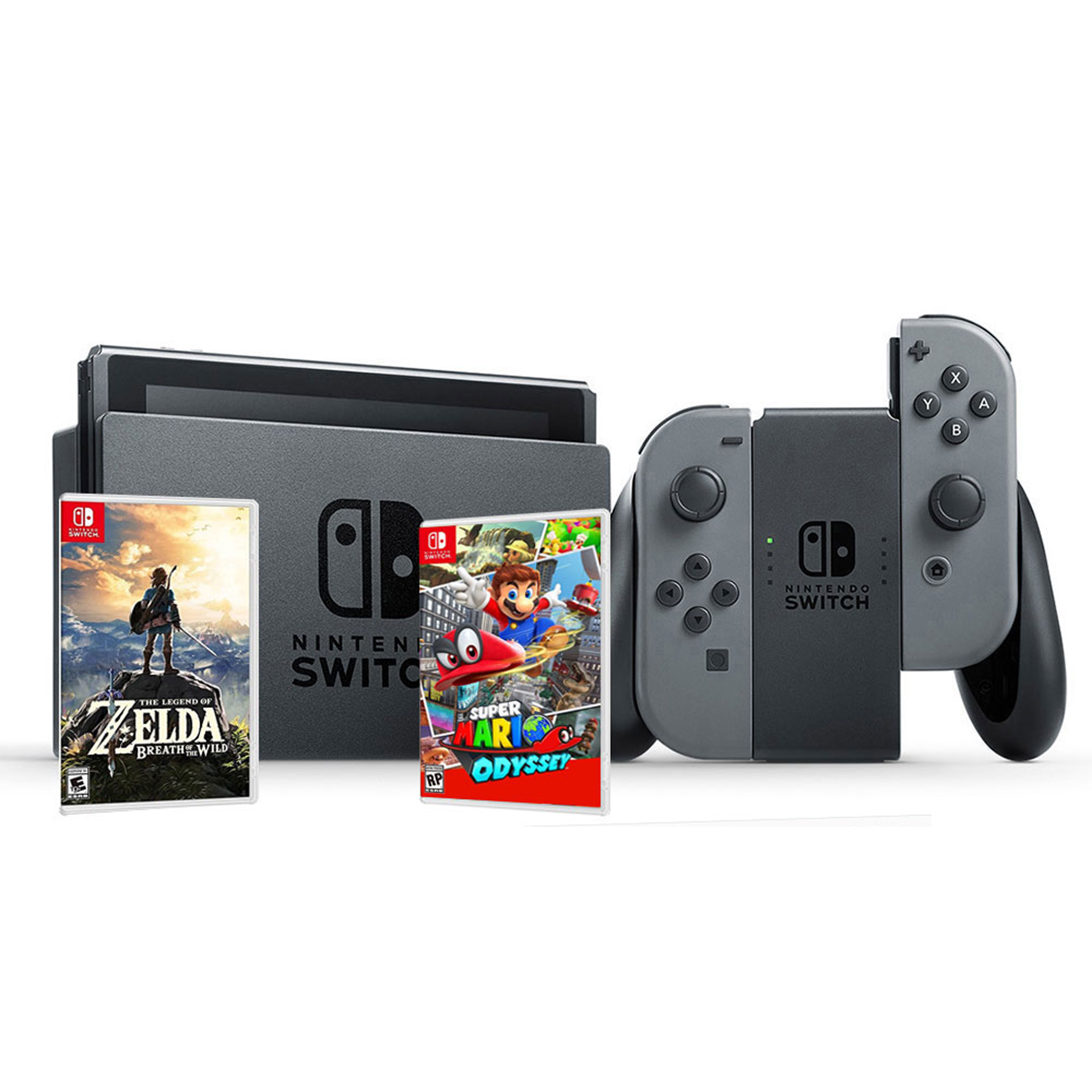 Nintendo Switch Bundle (Super Mario/Zelda)