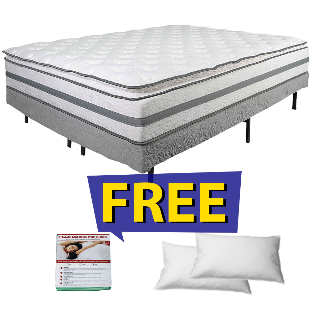 mattress top xl size value set pin collection white air king pillow lakota spring twin