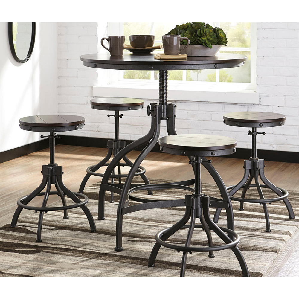 odium counter height dining room table and bar stools set of 5. Black Bedroom Furniture Sets. Home Design Ideas