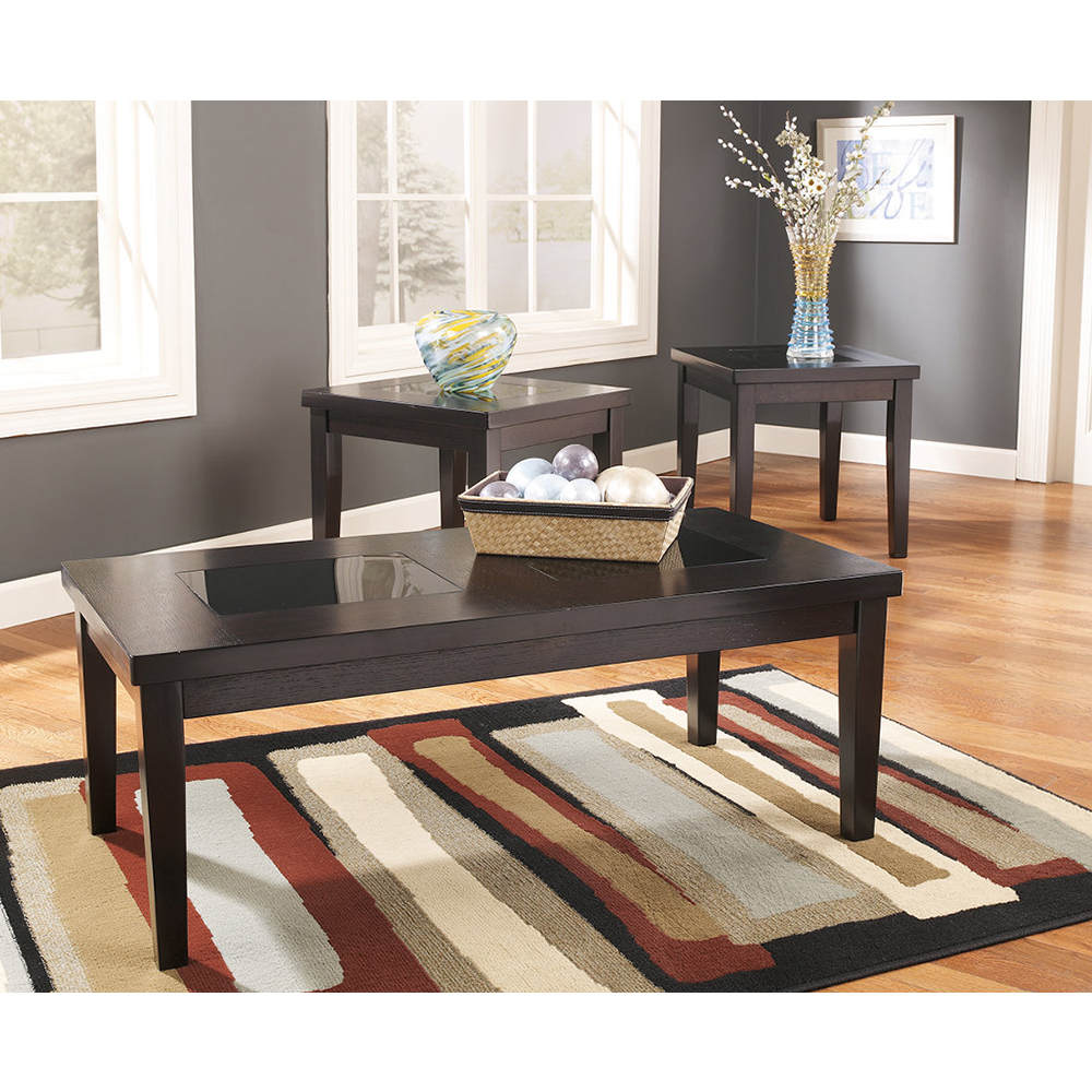 Denja 3 Piece table set    Coffe table, 2 end tables