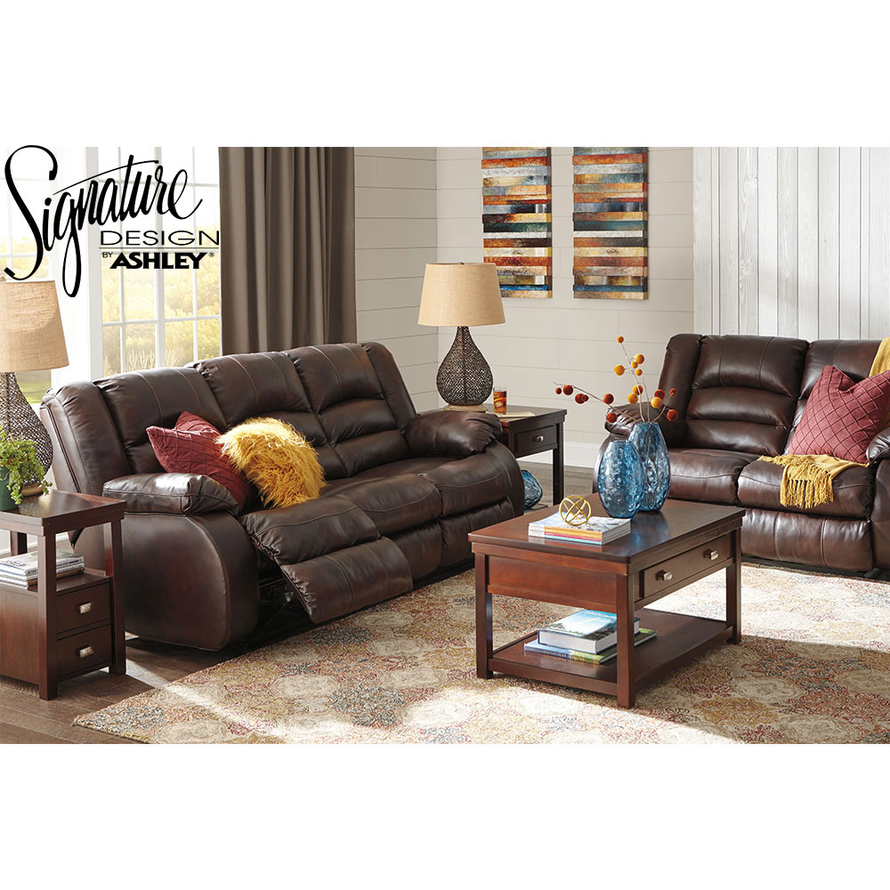 Levelland Recliner 2 Pc Set Includes: Sofa & Loveseat in Genuine Leather by Ashley