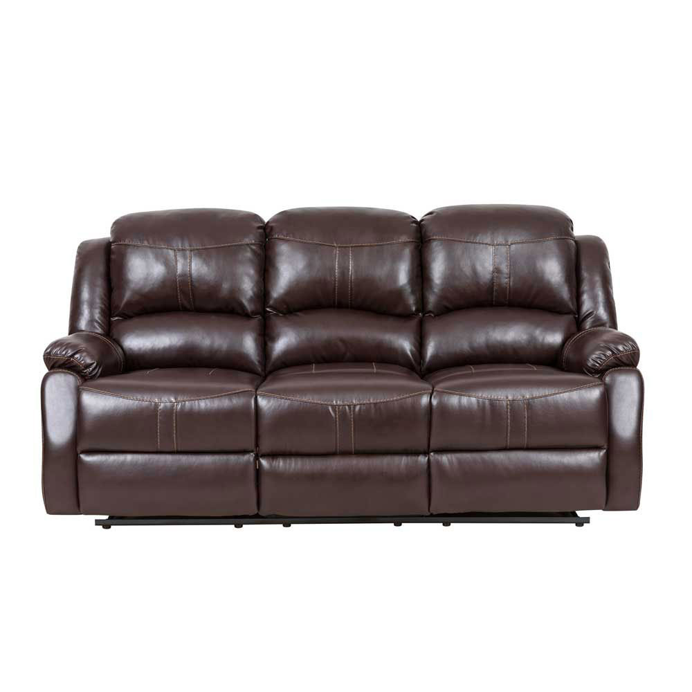 Lorraine Recliner Sofa  in Brown Bonded Leather