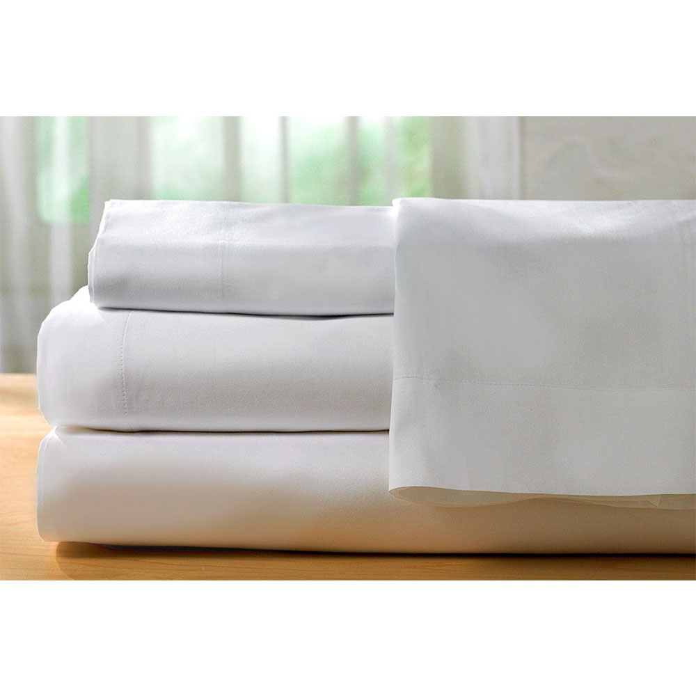 Spirit Premium Bamboo Queen Bed sheets   in White