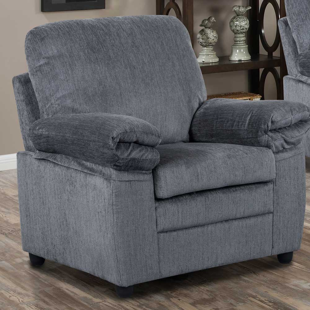 London Chair in Gray Chenille