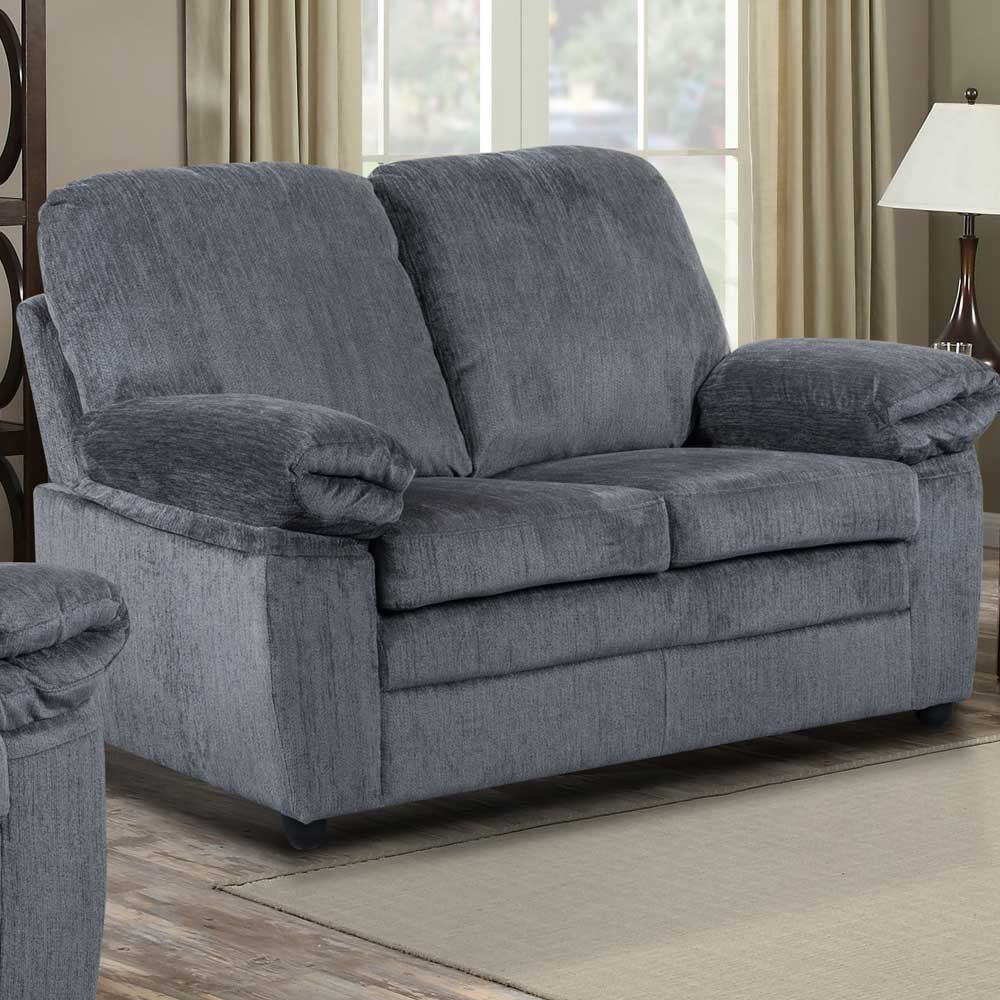 London Loveseat in Gray Chenille