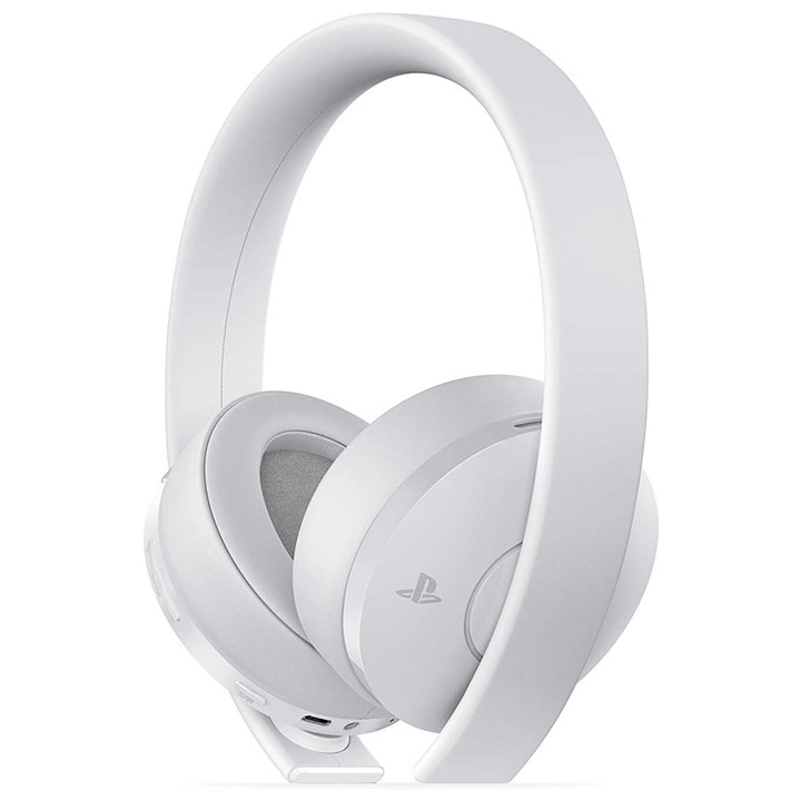 PS4 Gold Wireless Stereo  Headset - White