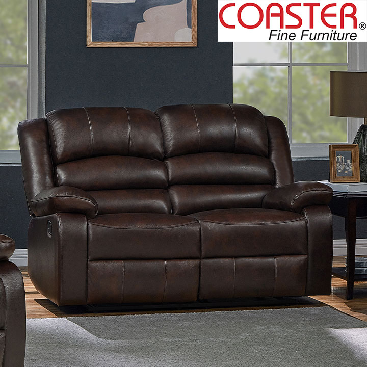 Denison Genuine Leather Reclining Loveseat