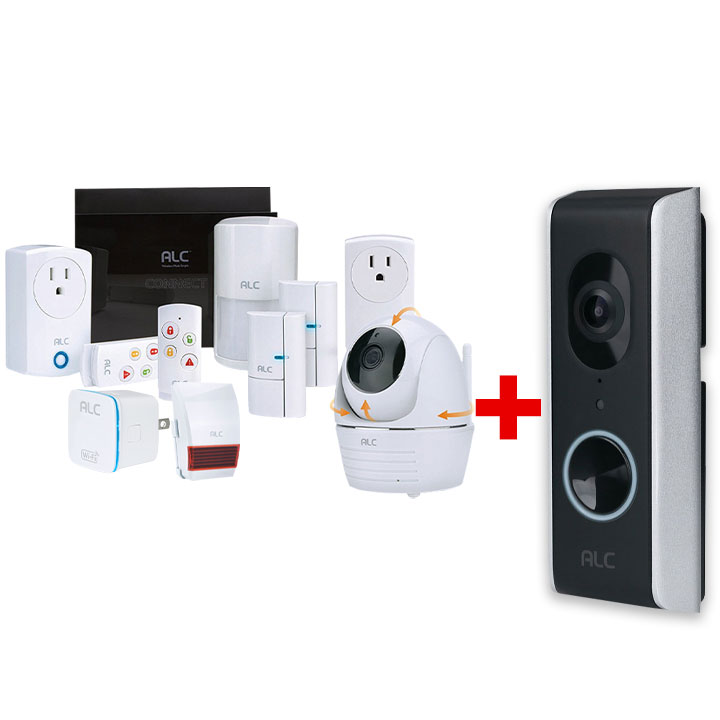 ALC Security System with Doorbell & Wifi Repeater Bundle