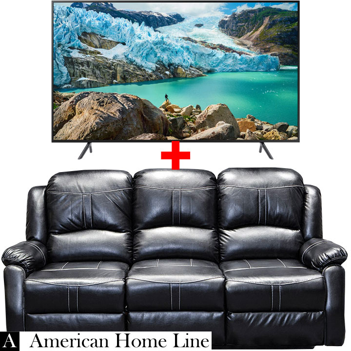 Brilliant Lorraine Bel Aire Reclining Sofa In Ebony Samsung 58 4K Machost Co Dining Chair Design Ideas Machostcouk