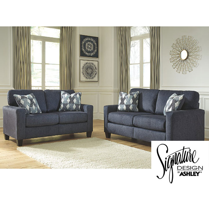 Ashley Burgos Sofa and Loveseat in Navy