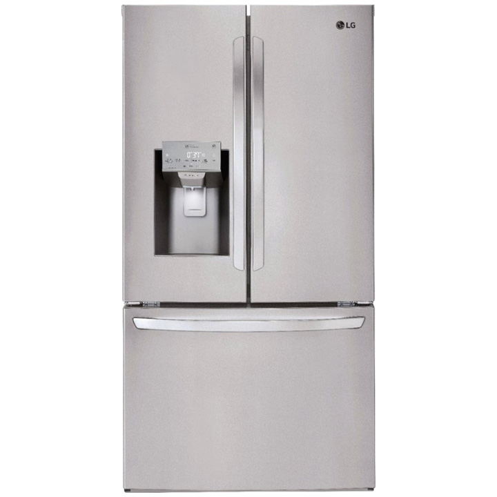 LG 27.9 French Door Smart Wi-Fi Enabled Refrigerator - Stainless steel