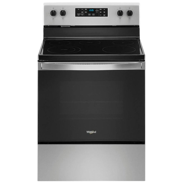 Whirlpool 5.3 Cu. Ft. Freestanding Electric Range with Steam-Cleaning and Frozen Bake