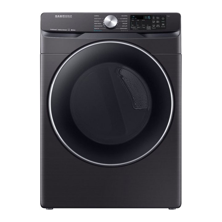 Samsung 7.5 Cu. Ft. 12-Cycle Smart Wi-Fi Fingerprint Resistant Electric Dryer with Steam