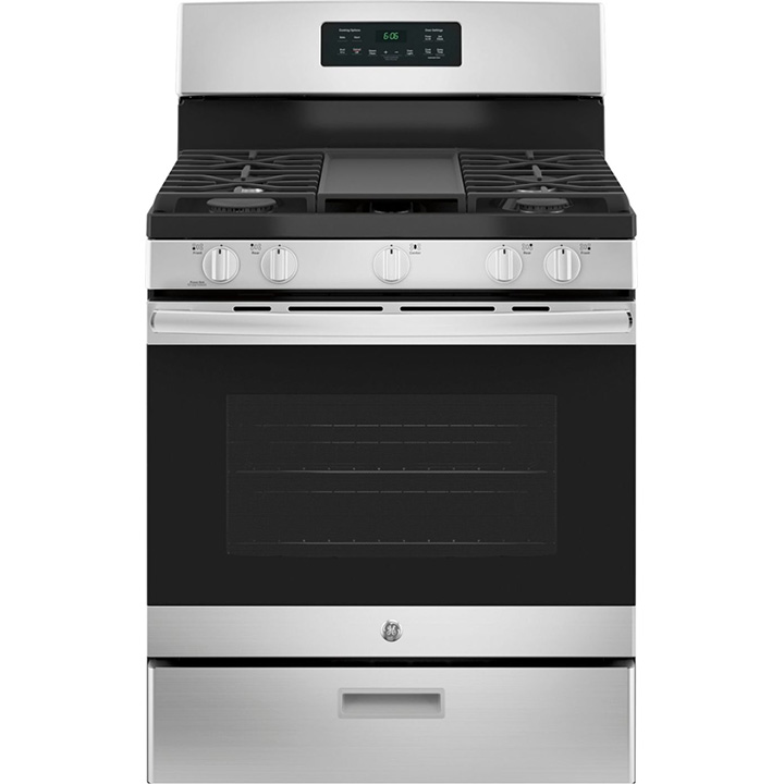 GE 5.0 Cu. Ft. Freestanding Gas Range - Stainless steel